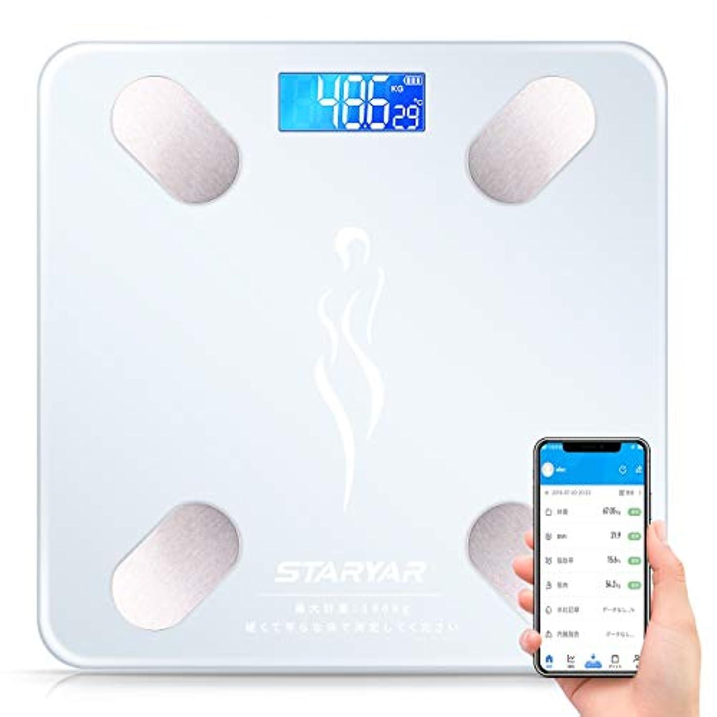 によるとダニフィヨルド体重計 体脂肪計 体組成計スマホ連動 体重/体脂肪率/体水分率/推定骨量/基礎代謝量/内臓脂肪レベル/BMIなど簡単測定可能 Bluetooth対応 iOS/Androidアプリで健康管理まで 日本語取扱説明書 (ホワイト)