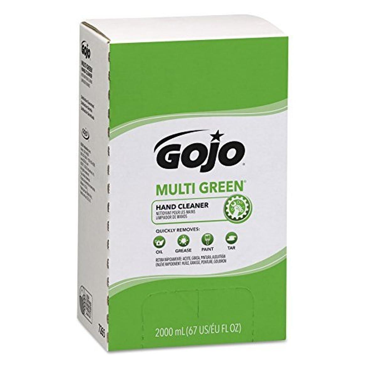 アプローチ本物の転倒GOJO MULTI GREEN Hand Cleaner Gel,Natural Citrus Solvent,2000 mL BioPreferred Certified Hand Cleaner Refill for...