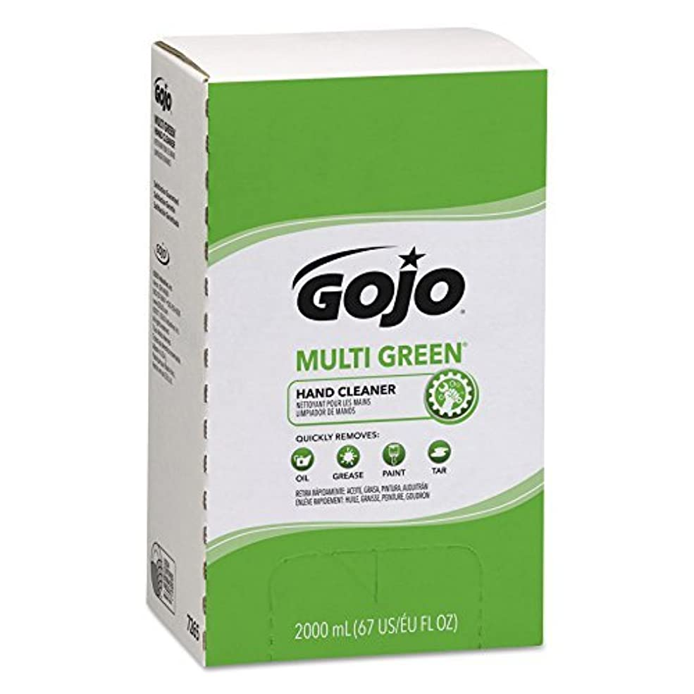 宮殿人差し指意志GOJO MULTI GREEN Hand Cleaner Gel,Natural Citrus Solvent,2000 mL BioPreferred Certified Hand Cleaner Refill for...