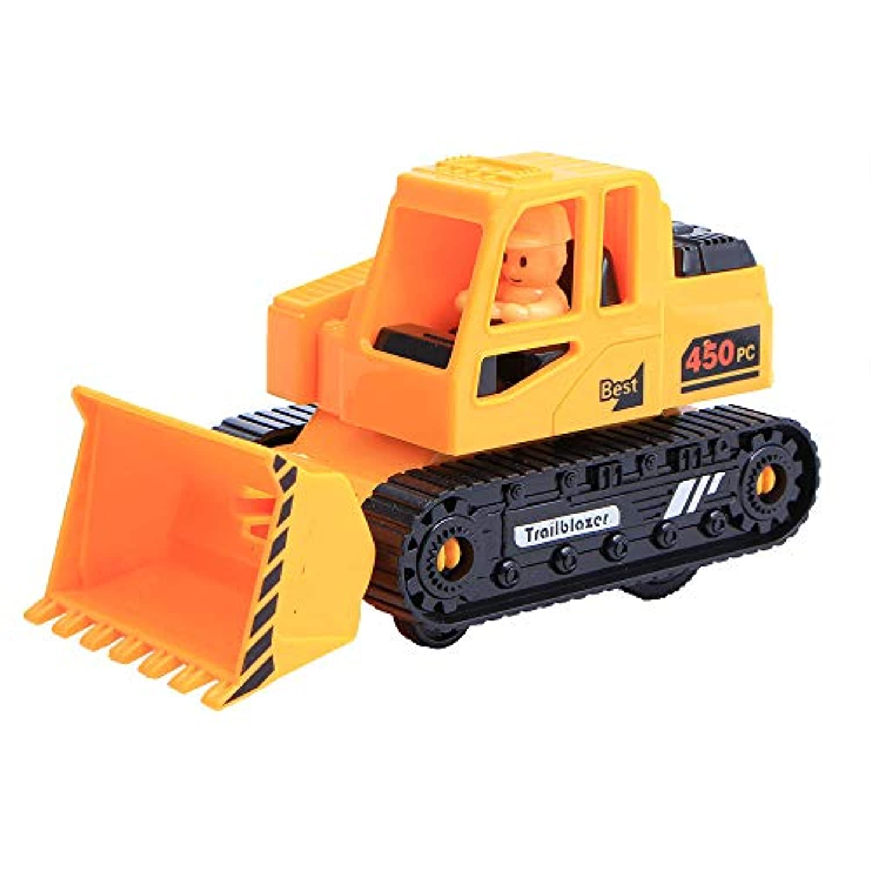 Wffo 車 子供 おもちゃ 装飾 ダイカスト プルバック ブルドーザー モデル イエロー Wffo - toy