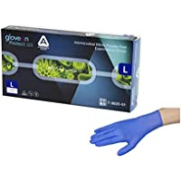 アズワン 抗菌性ニトリル手袋 AMG パウダーフリー 1箱(100枚入) サイズ:L