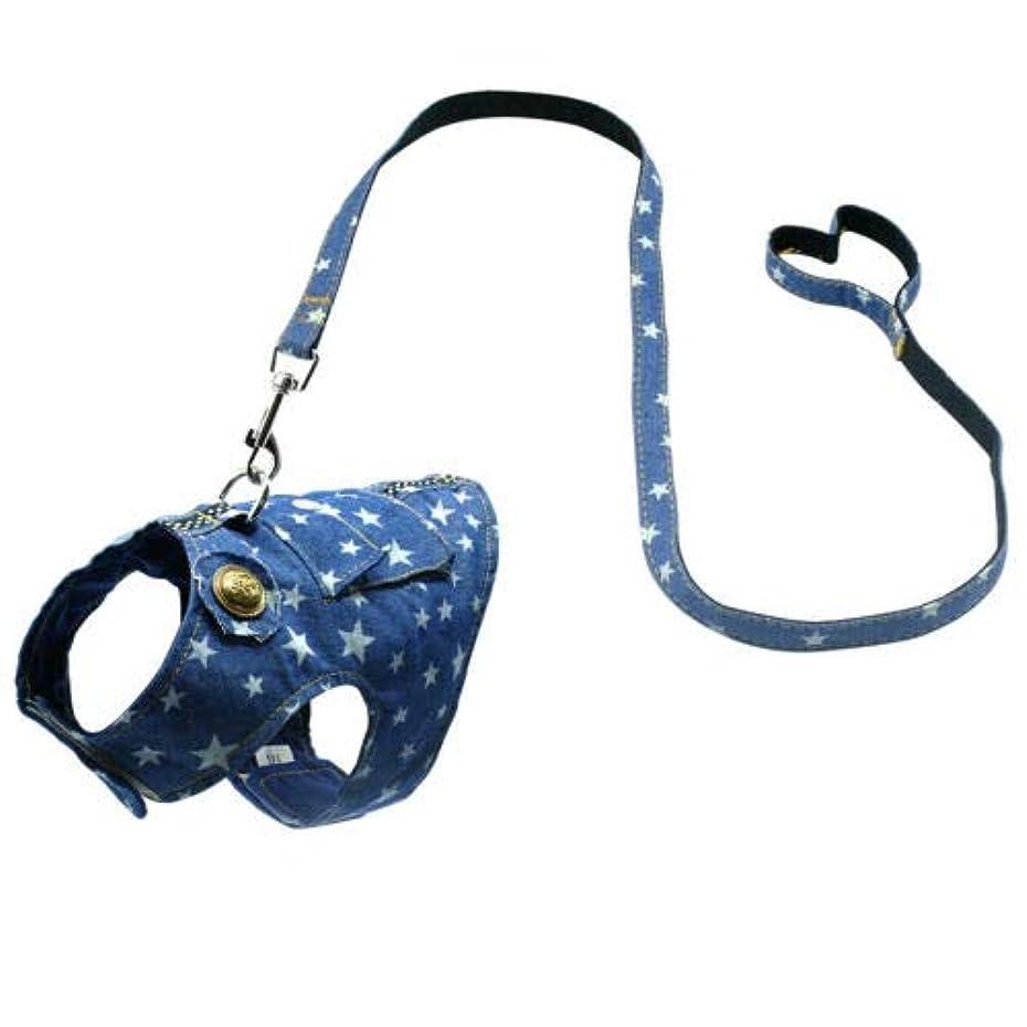 急速な学ぶハンサムFidgetGear Cat Walking Jacket Harness and Leash Puppy Kitty Kitten Clothes Adjustable Vest M Star Print