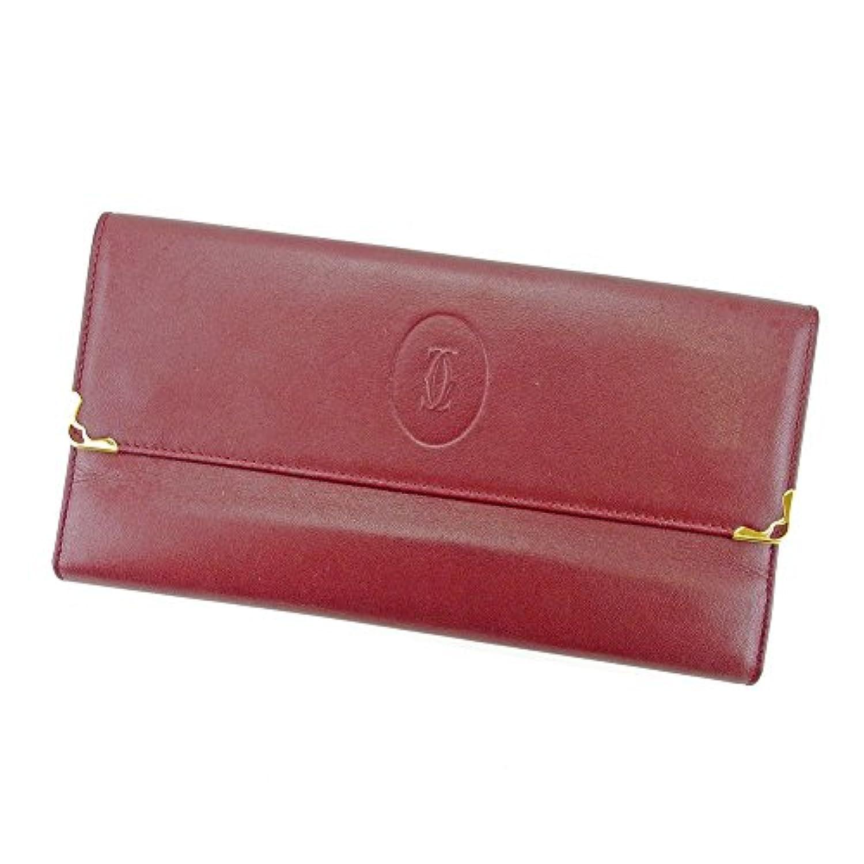 [カルティエ] Cartier 長財布 財布 がま口 三つ折り レディース メンズ 可 マストライン 中古 T4371