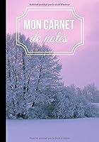 Mon carnet de notes: Cahier d'écriture campagne et nature - style sobre et moderne | 100 pages format 7*10 pouces