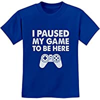 Tstars I Paused My Game to Be Here Funny Gift for Gamer Youth Kids T-Shirt