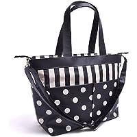 マザーズバッグ(トートタイプ) モノトーン  wide stripe(twill?black)×polka dot large(twill?black) B2701100