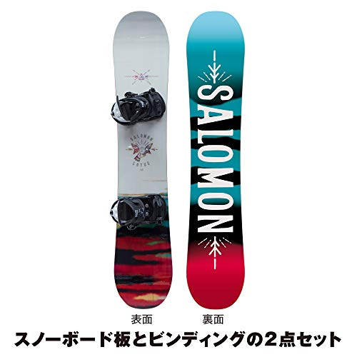 サロモン(SALOMON) 2点セット LOTUS W 146cm × PACT J BLACK/WHITE Sサイズ L40529900-146-L40435600-S