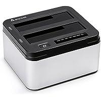 Salcar USB3.0 2.5/3.5型 HDD/SSDスタンド UASP対応 パソコンなしで丸ごとコピー 8TB*2対応 アルミ筐体 1年保証