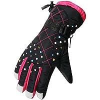 厚手の防風スポーツグローブ冬のサイクリングスキーグローブ、黒