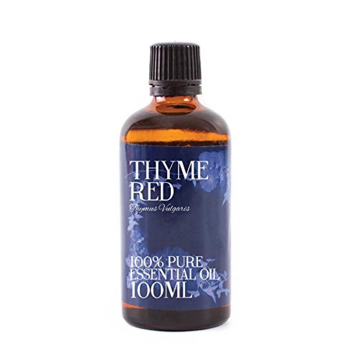 過半数うめき無駄Mystic Moments   Thyme Red Essential Oil - 100ml - 100% Pure