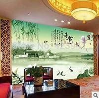 Bzbhart テレビの背景装飾画、壁用ステッカーホット缶カスタマイズされた大規模な3D壁壁画壁紙壁掛け家の装飾リビングルームの寝室高級湖の詩-120cmx100cm