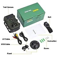 トレイルカメラ12MP 1080P HDゲーム&ハンティングカメラ広角レンズ940nmアップデートIR LEDナイトバージョンワイルドライフカメラ