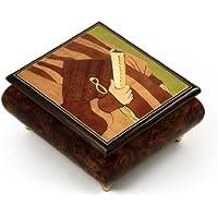 ハンドメイドイタリアMusical Jewelry Box with卒業式テーマInlay 191. If You're Irish ゴールド MBA17GRAD1