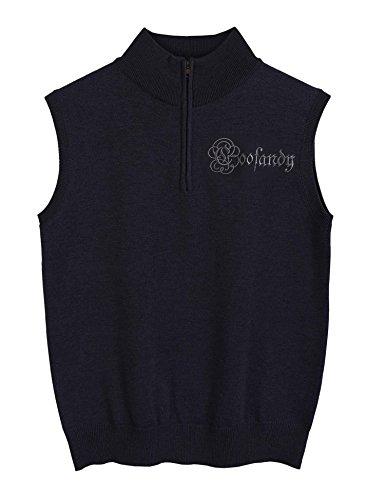 (クーファンディ)Coofandy ベスト メンズ ニット ゴルフ 無地 ブラック スクール セーター ハイネック ハーフジップ おしゃれ 防寒 保温 通勤 通学 仕事 おおきいサイズ