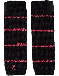 (ラフ シモンズ) Raf Simons メンズ 手袋・グローブ Black Long Striped Gloves [並行輸入品]