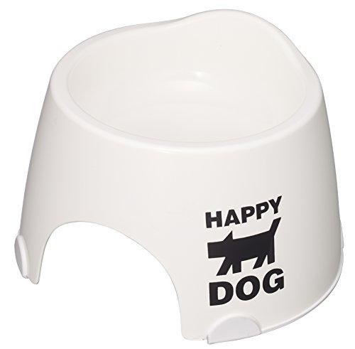 伊勢藤 小型犬専用フードボウルすべり止め付きホワイト