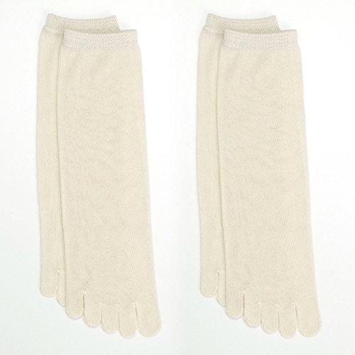 冷えとり靴下 2枚 日本製 【841 奈良県広陵町 2足バリューセット 絹5本指ソックス×2】