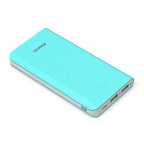 ROMOSS モバイルバッテリー 大容量 10000mAh 急速充電 2.1A 2ポート携帯充電器 ...