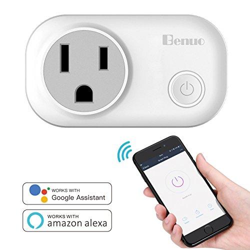 Benuo スマートコンセント WiFi電源コンセント スマートプラグ 省エネ 消費電力計測 音声コントロール コンパクト APPコントロール機能 どこでもコントロール 2.4GMhz 自宅の電源をスマホから遠隔操作できる Amazon Alexa対応