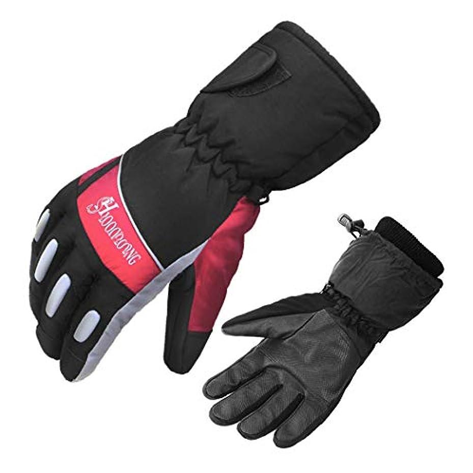 酸フルーティー一緒アウトドアスキー防水手袋男性の冬暖かい滑り止めサイクリング手袋アウトドア乗馬ハイキングプラスベルベット暖かい手袋 (色 : A, サイズ : XL)