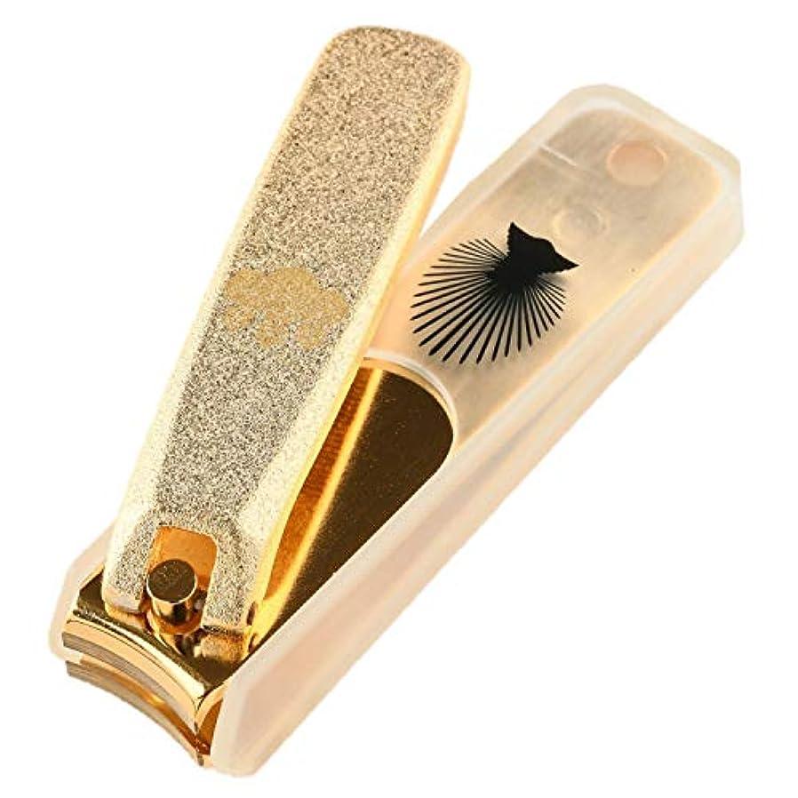 増加する連合壊すNIKKEN ニッケン刃物 関伝の美 武将爪切り 豊臣秀吉モデル ゴールド NL-18H