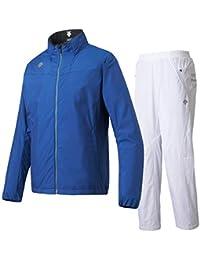 デサント(DESCENTE) EKS+THERMO ジャケット&ロングパンツ 上下セット(ブルー/ホワイト) DMMMJF34A-BL-DMMMJG34-WH
