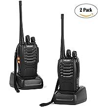 Ansoko Handheld Walkie Talkies Long Range Two Way Radios 16-Channel 2-Way Radio (Pack of 2)