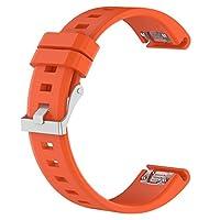 ノーブランド品 シリコン 腕時計バンド 交換ストラップ Garmin Fenix 5 適用 ウォッチバンド 全5色 - オレンジ