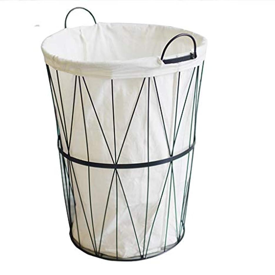 脱獄数字ショットQYSZYG メタルハンパーヴィンテージ収納バスケット、手作りバスケット、ホワイト 収納バスケット