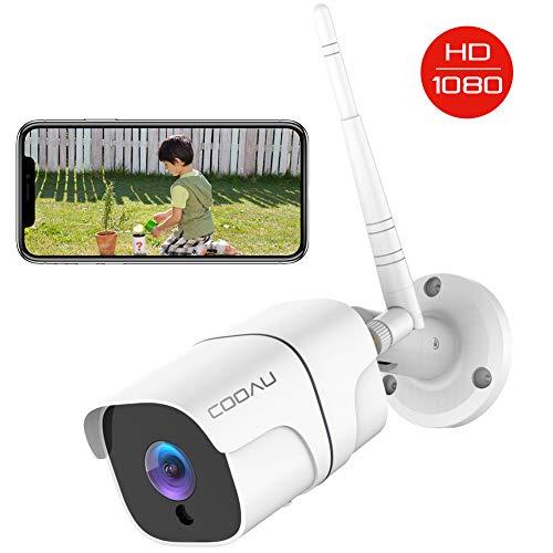 COOAU 防犯カメラ 屋外1080P 200万画素 WIFI/ワイヤレス ネットワークカメラIPカメラ 動体検知 警報 暗視撮影 IP66防水 双方向音声 遠隔操作 自動上書き 監視カメラ 見守りカメラios/android/windows対応 SDカード対応/クラウド保存 日本語アプリ 日本語説明書 技適認証済み ホワイト