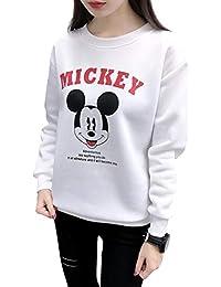 Chaufly Tシャツ 女性 ソフト デイリー ロングスリーブ O - ネック かわいい 動物 スリム フィット トップス