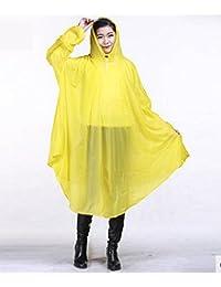 Youchan(ヨウチャン) レインコート ポンチョ カラフルフード ゆったり 自転車 バイク 携帯 コンパクト 雨具 雨カッパ レインウェア 防水 通勤 通学 オールシーズン レディース