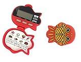時計 ストップウォッチ機能付 金魚型 5徳 歩数計