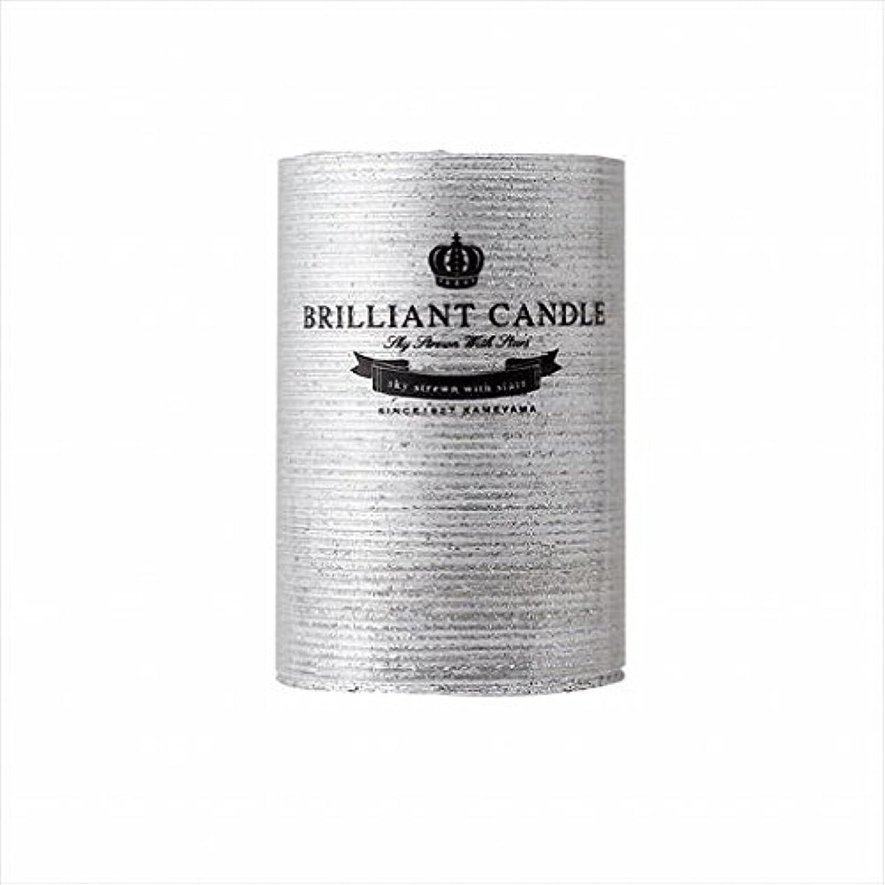 性差別繁栄ベスビオ山カメヤマキャンドル(kameyama candle) ブリリアントピラー2×3 「 シルバー 」