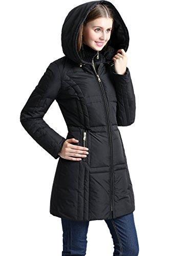BGSD Women's Whitney Water Resistant Down Puffer Coat Medium Black