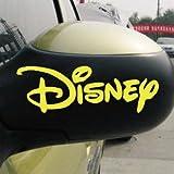 カーステッカー ミッキーマウス ミニーマウス ディズニー ドアミラーなど 2個セット ゴールド(写真と色違い注意)