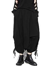 (サンワールド)Sunworld サルエルパンツ 巻きドレープ 男女兼用 ユニセックス V系 パンク 黒