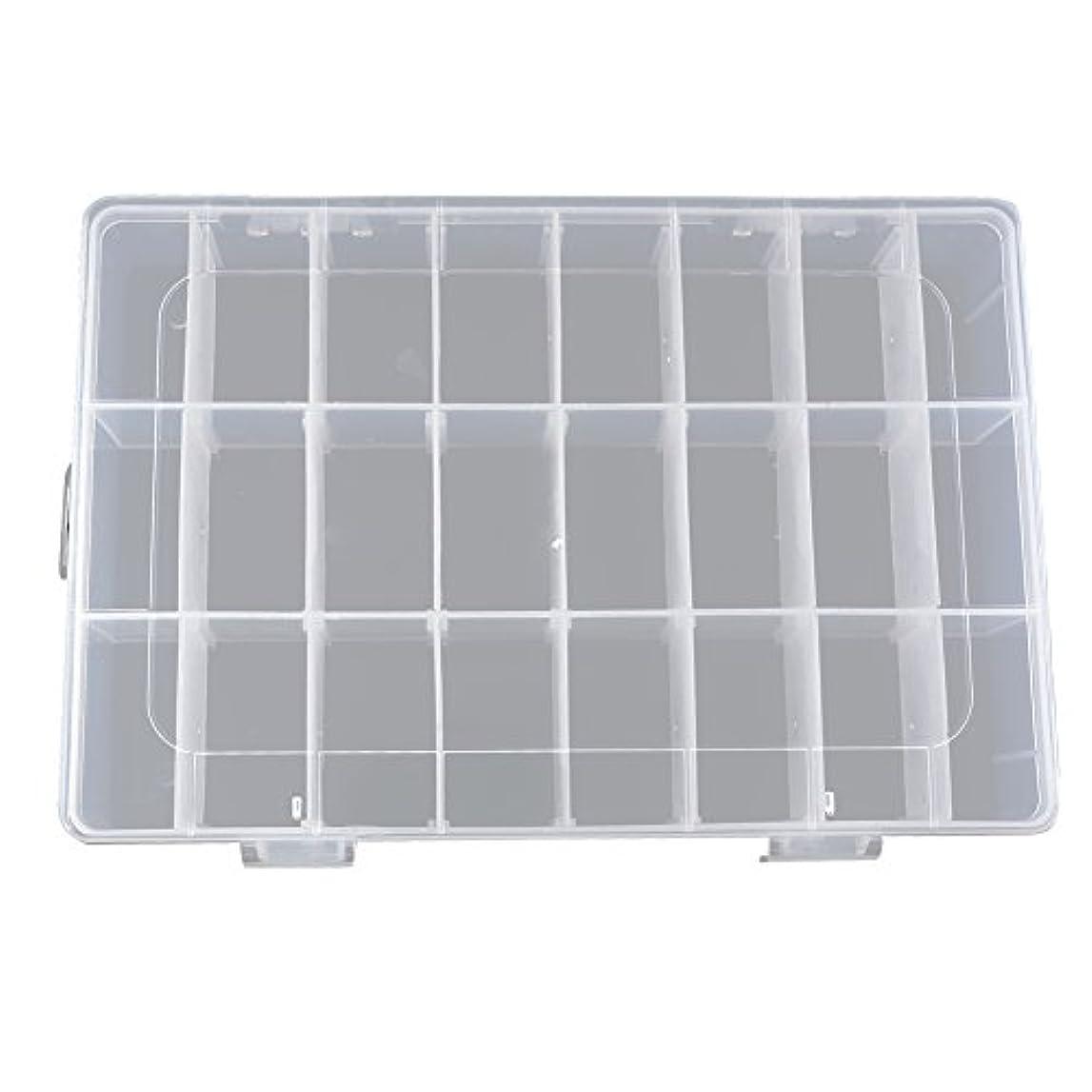 静けさマイクロプロセッサ浜辺alloet fishing-accessoriesボックス24スロット透明プラスチック釣りルアーボックス