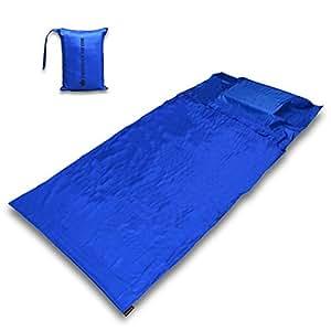 The Friendly Swede 北欧スウェーデンデザイン キャンプ・アウトドア 寝袋 インナーシュラフ 携帯キャリーバッグ付き (コバルトブルー)