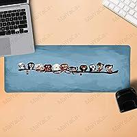 エコテンポ ゲーミングマウスパッド大マウスパッド素敵な漫画フクロウアート美しいアニメマウスマットマウスゲームマウスパッド