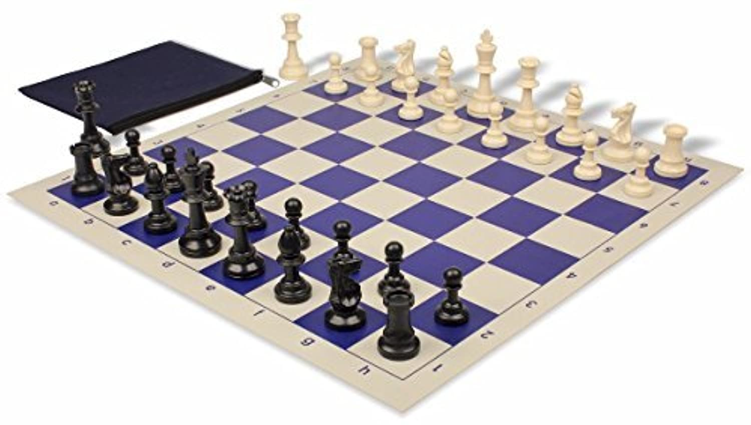 Value Club Classroom Chess Set Package Black & Ivory Pieces - Blue by The Chess Store [並行輸入品]