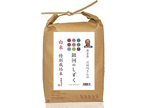 岩手県矢巾町産 川村巧さんのお米 白米 銀河のしずく(そのまま米びつとして使えるクラフト袋仕様) 5kg 平成29年度産