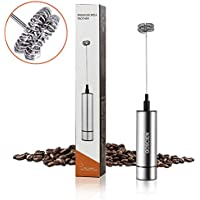 GOSCIEN ミルク泡立て器 ハンドヘルド 電動牛乳 泡立て器 卵 コーヒー ミルク ミニコーヒー攪拌機 - MFB1501B