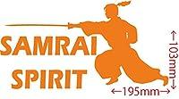 カッティングステッカー SAMURAI SPIRIT (侍魂)・2-5 約103mmX約195mm オレンジ 橙