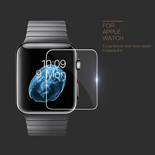 RC 42mm Apple Watchスクリーンプロテクター3dフルConverage、0.2MM強化ガラススクリーンプロテクターfor Apple watch-anti-glare /指紋防止/気泡防止、2パック RCSP00086S