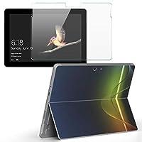 Surface go 専用スキンシール ガラスフィルム セット サーフェス go カバー ケース フィルム ステッカー アクセサリー 保護 クール 蛍光 カラフル 002268
