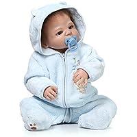 フルシリコンビニールベビー人形赤ちゃん人形ブラウンHair 23