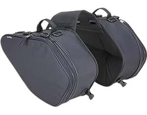 タナックス(TANAX)モトフィズ サイドバッグGT /ブラック MFK-135 可変容量23-31ℓ