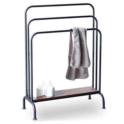 [해외]LOWYA (로우 야) 수건 걸이 수건 걸이 스틸 빈티지 스타일 천연 나무 돌판 버스 수건 걸이 세탁 행거 폭 65cm 신 생활/LOWYA (Loya) towel hanger Towel rack steel vintage style natural wood thrust plate bath towel hanger washing hanger widt...