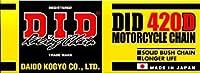 D.I.D(大同工業)バイク用チェーン クリップジョイント付属 420D-120RB STEEL(スチール) 二輪 オートバイ用
